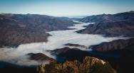 Cozia - Valea Oltului acoperita de ceata