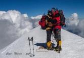 Pe vârful Mont Blanc