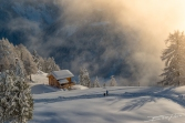 Piesaj de iarna in cantonul Valais, Elvetia
