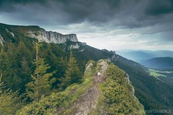 Dark clouds over Ceahlau Mountain