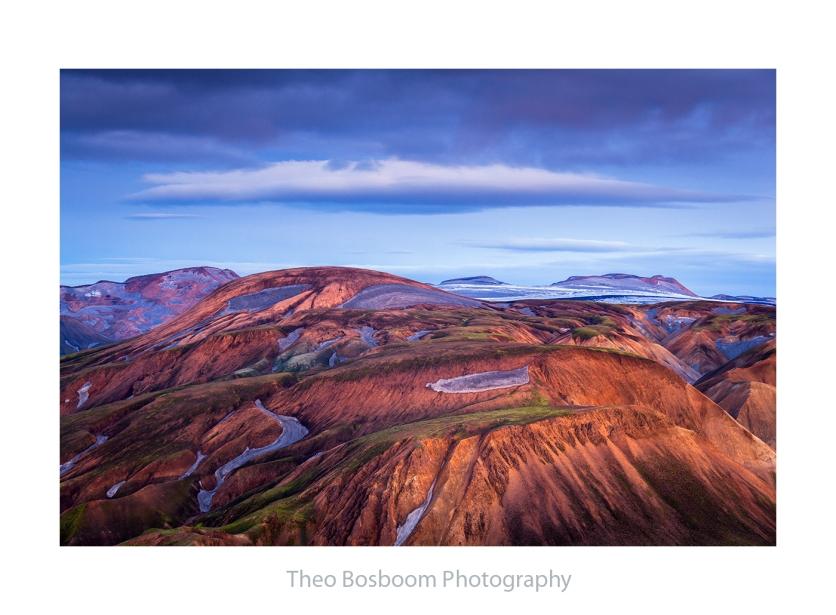 Theo Bosboom Blue hour at Landmannalaugar Iceland