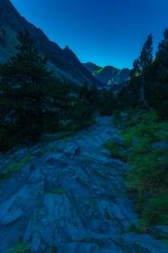 Amurg. Munții Pirinei